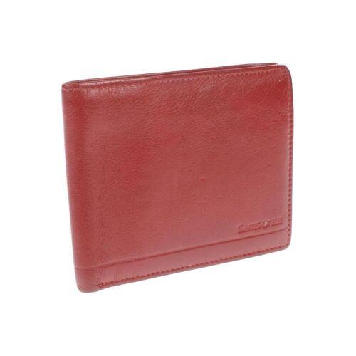Samsonite Damen Portemonnaie rot, Leder rot