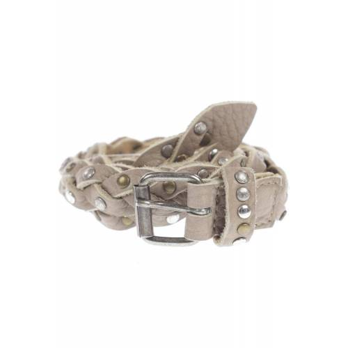 BRAX Damen Gürtel grau, 80, Leder grau