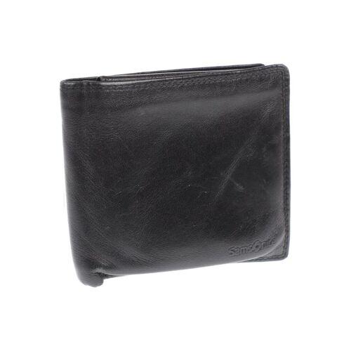Samsonite Herren Portemonnaie schwarz, Leder schwarz