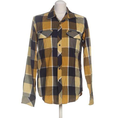 RVCA Herren Hemd gelb, INT S, Baumwolle gelb