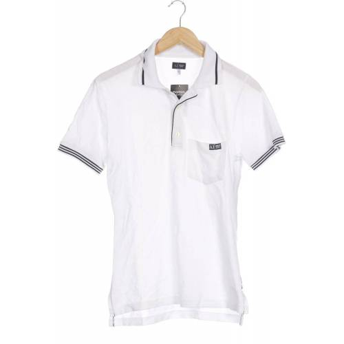 Giorgio Armani Jeans Herren Poloshirt weiß, INT M weiß