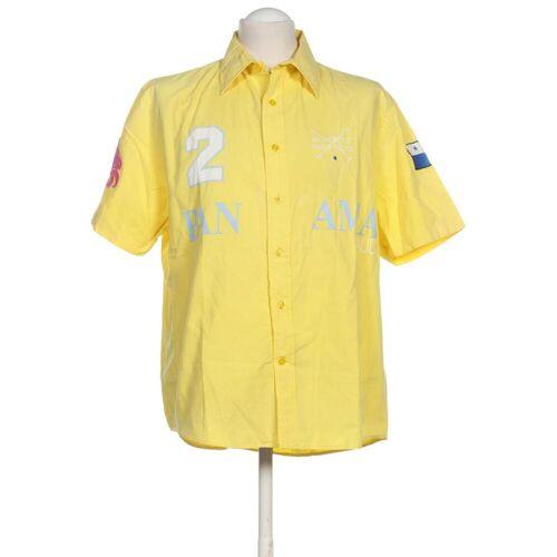 Gaudì Herren Hemd gelb, INT L, Baumwolle gelb