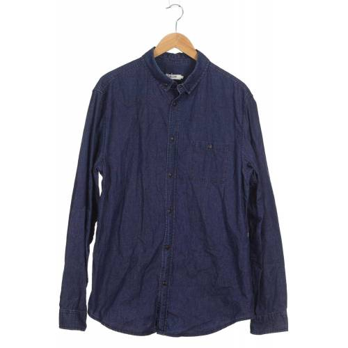 Kiomi Herren Hemd blau, INT XXL, Baumwolle blau
