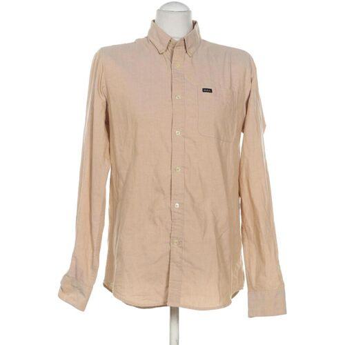 RVCA Herren Hemd beige, INT M, Baumwolle Synthetik beige