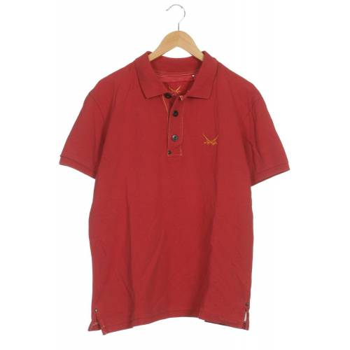 SANSIBAR Herren Poloshirt rot, INT L, Baumwolle rot