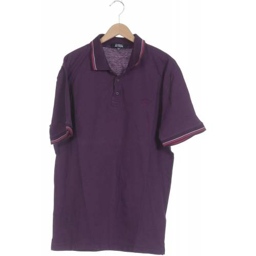 Trussardi Herren Poloshirt lila, DE 52, Baumwolle lila