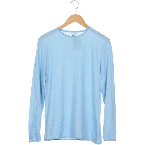 ZARA Herren Pullover blau, INT M CFFDDB1 blau