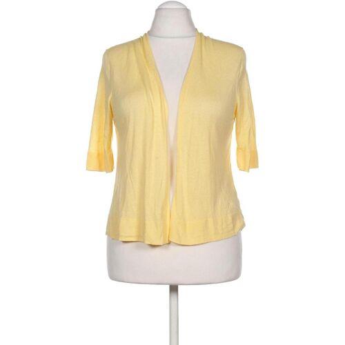 ELIE TAHARI Damen Strickjacke gelb, INT L, Leinen Viskose gelb