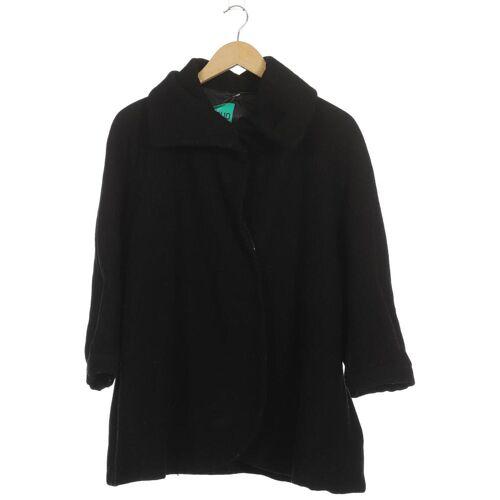 Ganni Damen Mantel schwarz, INT M, Wolle Viskose schwarz