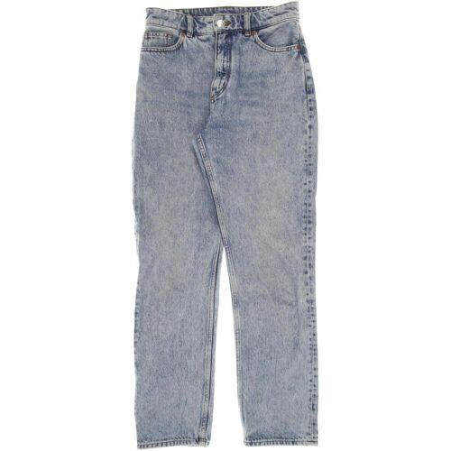 MONKI Damen Jeans blau, INCH 26, Baumwolle blau