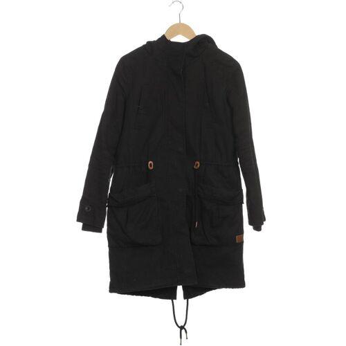 Twintip Damen Mantel schwarz, INT S, Baumwolle Synthetik schwarz