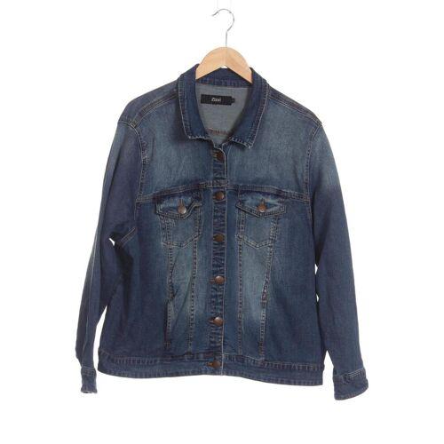 Zizzi Damen Jacke blau, INT L, Baumwolle blau