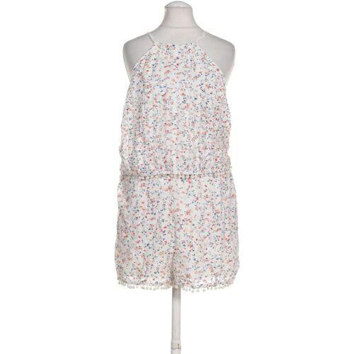 bershka Damen Jumpsuit/Overall weiß, INT XS weiß