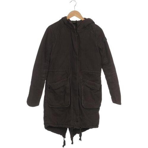 tigha Damen Mantel grau, INT S, Baumwolle Synthetik Wolle grau
