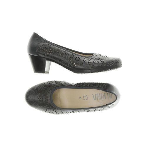 Alpina Damen Pumps schwarz, UK 4.5, Leder schwarz