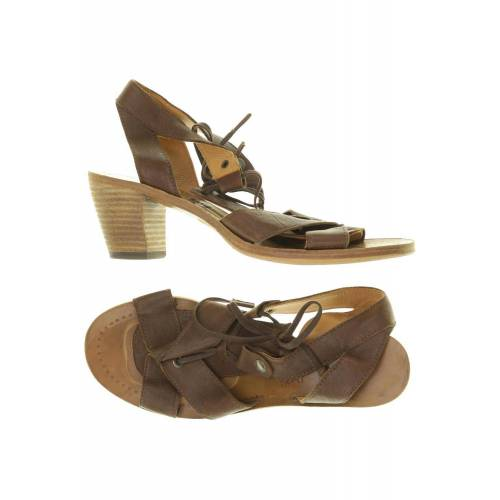 Zinda Damen Sandale braun, DE 38, Leder braun