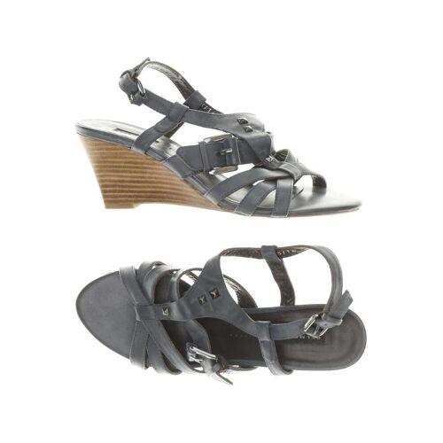 BELMONDO Damen Sandale blau, DE 38, Leder CA633DF blau