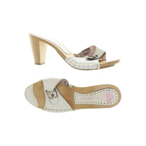 Fornarina Damen Sandale weiß, DE 38, Leder weiß
