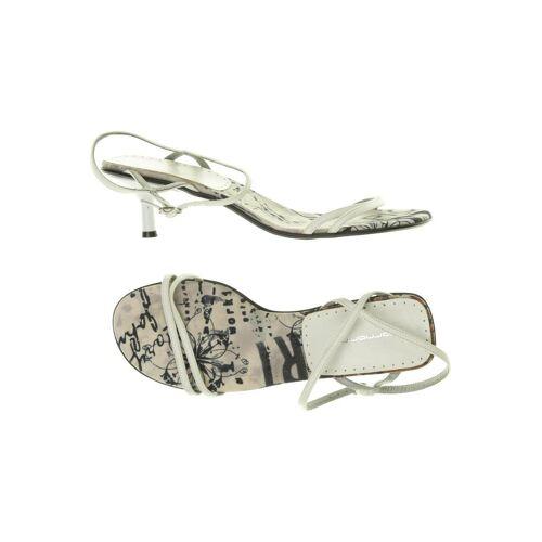Fornarina Damen Sandale weiß, DE 40, Leder weiß