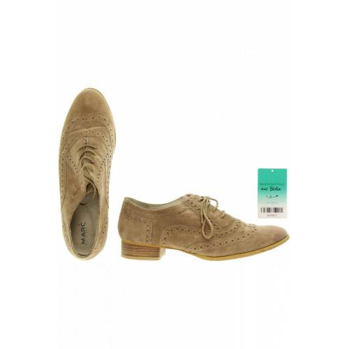 Marc Shoes Damen Halbschuh beige, US 7, Wildleder beige