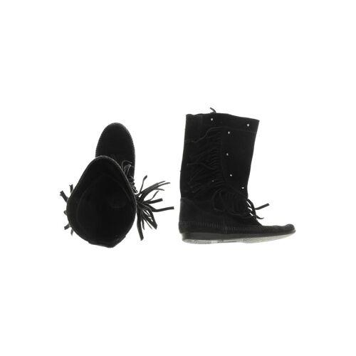 Minnetonka Damen Stiefel schwarz, DE 38 schwarz