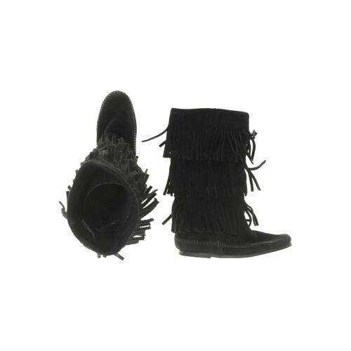 Minnetonka Damen Stiefel schwarz, UK 5 schwarz
