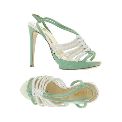 Pollini Damen Sandale grün, DE 35, Leder grün
