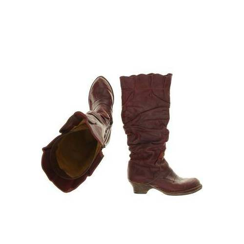 Rovers Damen Stiefel rot, DE 37, Leder rot
