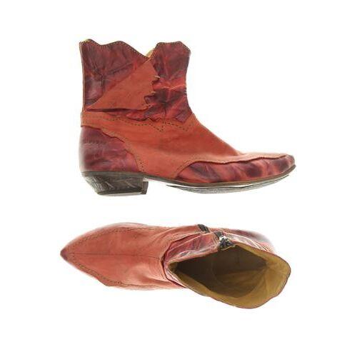 Rovers Damen Stiefelette rot, DE 37, Leder rot