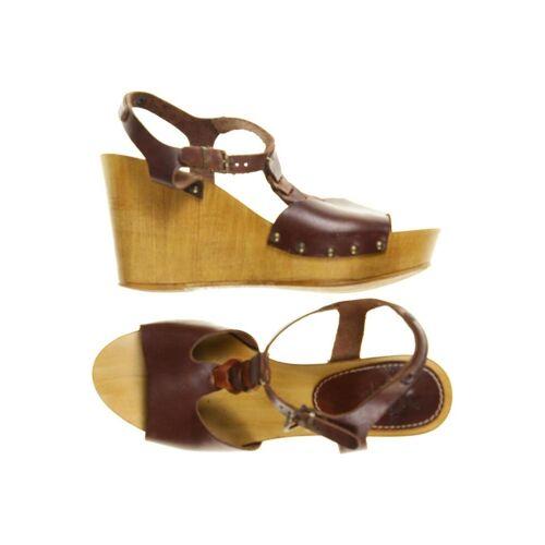 SANSIBAR Damen Sandale braun, DE 37 braun