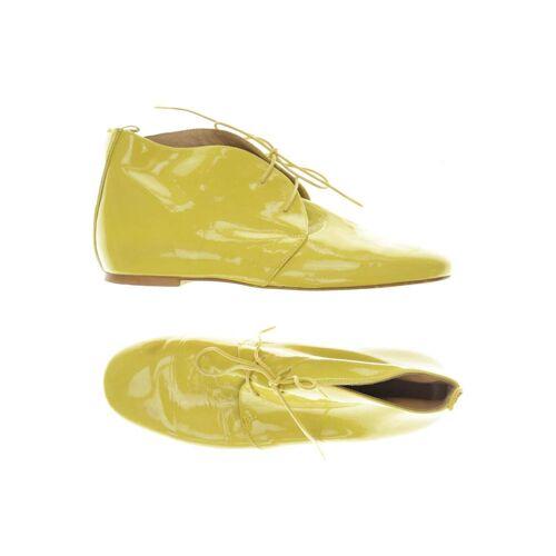 Strenesse Damen Stiefelette gelb, DE 36, Leder gelb