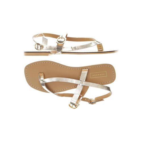 Topshop Damen Sandale gelb, DE 38, Leder gelb
