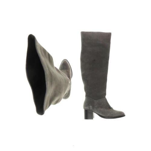 Topshop Damen Stiefel grau, DE 37, Leder grau