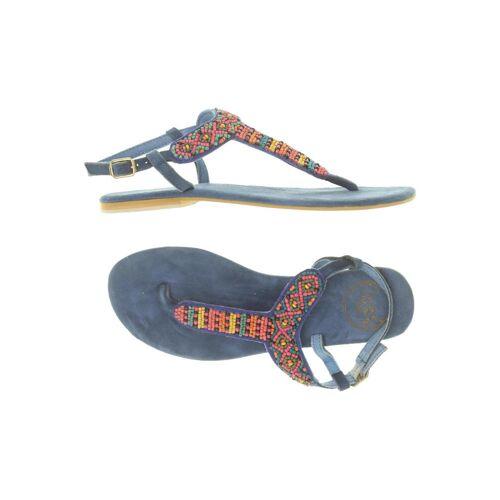 coolway Damen Sandale blau, DE 38, Leder blau