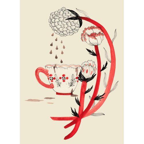 "JUNIQE Leinwandbild Kaffee ""Coffee"" von JUNIQE - Künstler: Daniela Spoto"