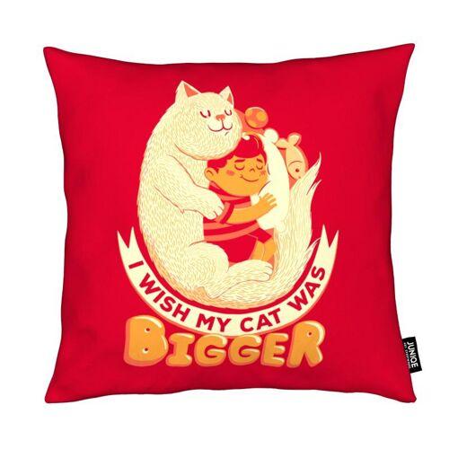 "JUNIQE Deko Kissen Katzen ""I Wish My Cat Was Bigger"" von JUNIQE"
