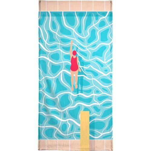 """JUNIQE Handtücher Schwimmen """"Pool"""" von JUNIQE"""