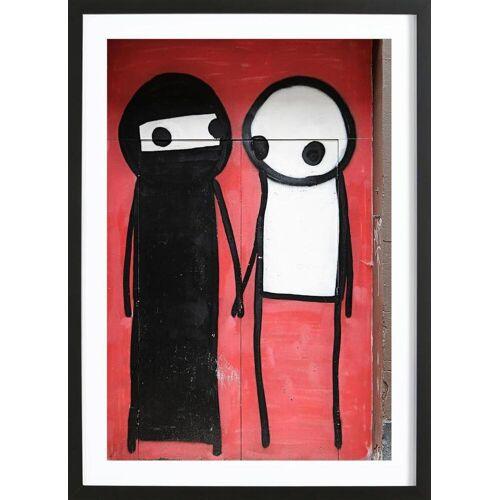 "JUNIQE Bild Street Art ""Streetart Rot 1"" von JUNIQE - Künstler: Sadia"