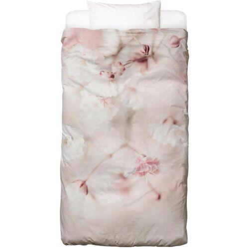 """JUNIQE Bettwäsche Blumen """"Pink Linen Gypsophila"""" von JUNIQE"""