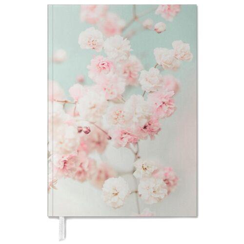 """JUNIQE Terminplaner 2021 Blumen """"Pink Blush Gypsophila"""" von JUNIQE"""