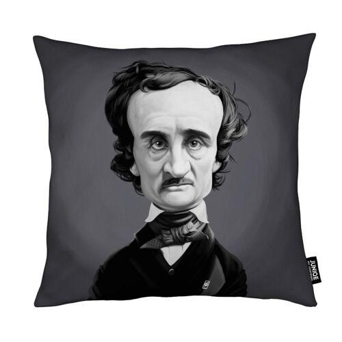 """JUNIQE Deko Kissen Schwarz & Weiß """"Edgar Allan Poe"""" von JUNIQE"""