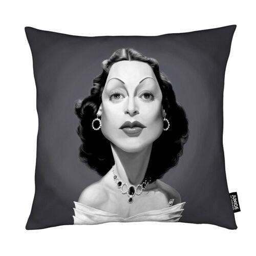 """JUNIQE Deko Kissen Schauspieler & Schauspielerinnen """"Hedy Lamarr"""" von JUNIQE"""