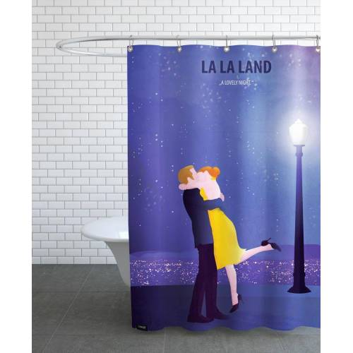 "JUNIQE Duschvorhang Filme ""Lalaland 1"" von JUNIQE"