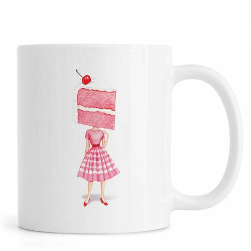 """JUNIQE Tassen Kuchen """"Cake Heads Cherry"""" von JUNIQE"""