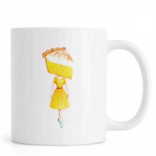 "JUNIQE Tassen Kuchen ""Cake Heads Lemon"" von JUNIQE"