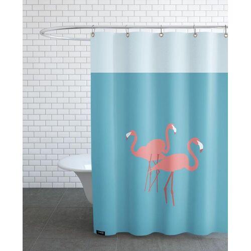 "JUNIQE Duschvorhang Flamingos ""Flamingo"" von JUNIQE"