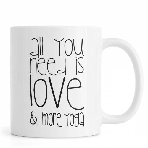 "JUNIQE Tassen Yoga ""Love and Yoga"" von JUNIQE"