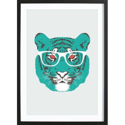 "JUNIQE Bild Tiger ""Bookish Big Cat"" von JUNIQE - Künstler: Tracie Andrews"