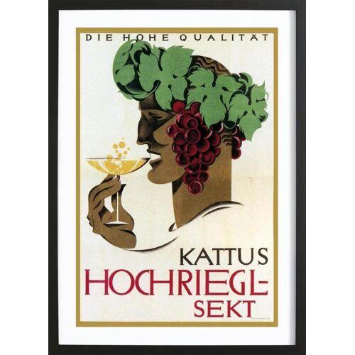 """JUNIQE Bild Vintage """"Hochriegel Sekt"""" von JUNIQE - Künstler: Vintage Art Archive"""