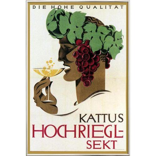 """JUNIQE Poster im Alurahmen Vintage """"Hochriegel Sekt"""" von JUNIQE - Künstler: Vintage Art Archive"""